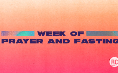 Week of Prayer and Fasting July 19-24 2020